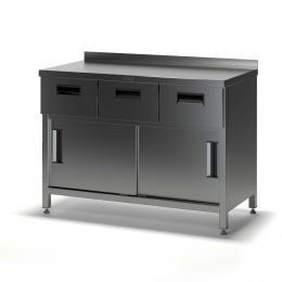 Стол купе с дверками и выдвижными ящиками СГДК-2/1500/600