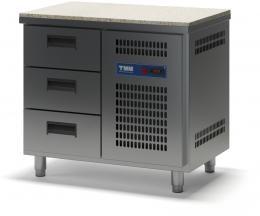 Стол холодильный с гранитной столешницей выдвижными ящиками СХСБ К-1/3Я 945х600
