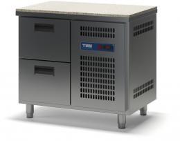 Стол холодильный с гранитной столешницей выдвижными ящиками СХСБ К-1/2Я 945х600