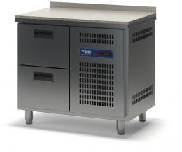 Стол холодильный с гранитной столешницей выдвижными ящиками  К-2/2Я 945х700