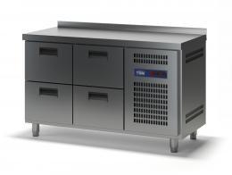Стол холодильный с выдвижными ящиками СХСБ-2/4Я 1390х700