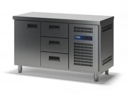 Стол холодильный с выдвижными ящиками СХСБ-1/1Д-3Я 1390х600