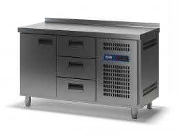 Стол холодильный с выдвижными ящиками СХСБ-2/1Д-3Я 1390х600