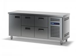 Стол холодильный с выдвижными ящиками СХСБ-1/1Д-4Я 1835х700