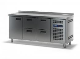 Стол холодильный с выдвижными ящиками СХСБ-2/1Д-4Я 1835х600