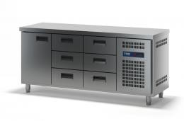 Стол холодильный с выдвижными ящиками СХСБ-1/1Д-6Я 1835х700