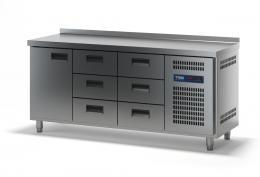 Стол холодильный с выдвижными ящиками СХСБ-2/1Д-6Я 1835х700