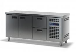 Стол холодильный с выдвижными ящиками СХСБ-1/2Д-2Я 1835х700