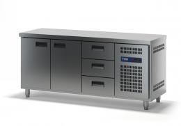 Стол холодильный с выдвижными ящиками СХСБ-1/2Д-3Я 1835х700