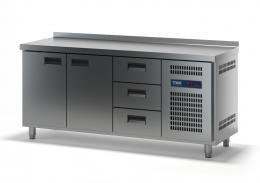 Стол холодильный с выдвижными ящиками СХСБ-2/2Д-3Я 1835х700