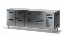 Стол холодильный с выдвижными ящиками СХСБ-1/8Я 2280х600