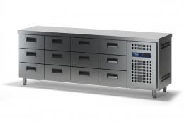 Стол холодильный с выдвижными ящиками СХСБ-1/12Я 2280х700