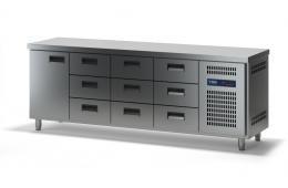Стол холодильный с выдвижными ящиками СХСБ-1/1Д-9Я 2280х700