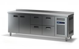 Стол холодильный с выдвижными ящиками СХСБ-2/2Д-4Я 2280х700