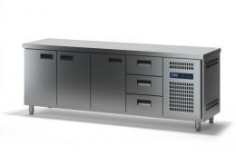 Стол холодильный с выдвижными ящиками СХСБ-1/3Д-3Я 2280х700