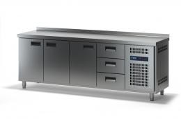 Стол холодильный с выдвижными ящиками СХСБ-2/3Д-3Я 2280х600