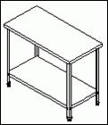 Стол разделочный разборный профильный СРП-2/1200/600