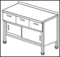 Стол купе с дверками и выдвижными ящиками СГДК-2/1200/600